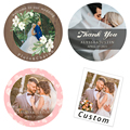 4.5cm Custom Stickers Printing Photo Wedding Sticker Personalize Design Label Birthday Party Stickers Invitations Seal Labels