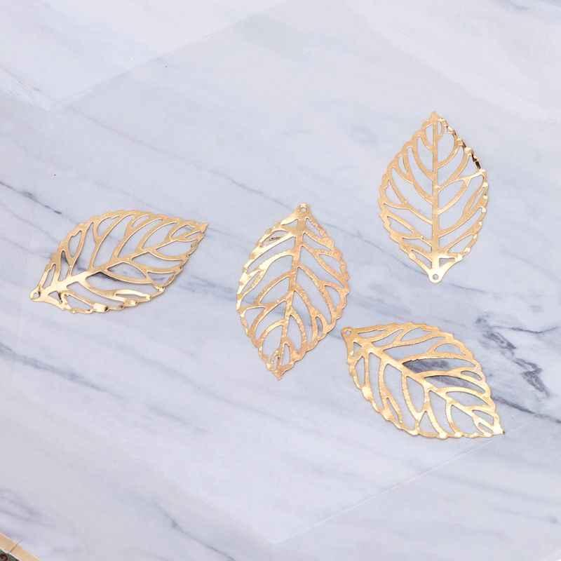 Borboleta de ouro dragão folhas resina epóxi molde fina cobre recheios jóias diy