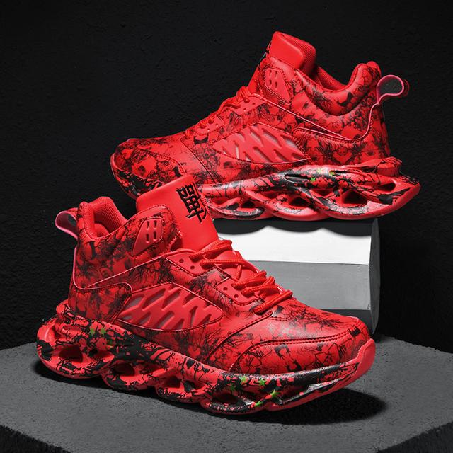 Zapatillas de correr para hombre, transpirables, cómodas, resistentes al desgaste, deportivas de baloncesto