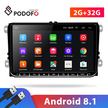 Multimedia-Player Auto-Radio Android-8.1 Passat/skoda 2-Din FM Podofo 2G GPS for 9-