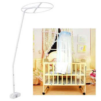 Zestaw świeczników na moskitiery uniwersalny regulowany klips na łóżeczko z baldachimem uchwyt na moskitiery akcesoria montażowe tanie i dobre opinie Jednodrzwiowe Babies circular Domu Mosquito Net Stand Dzieci Pałac moskitiera Other