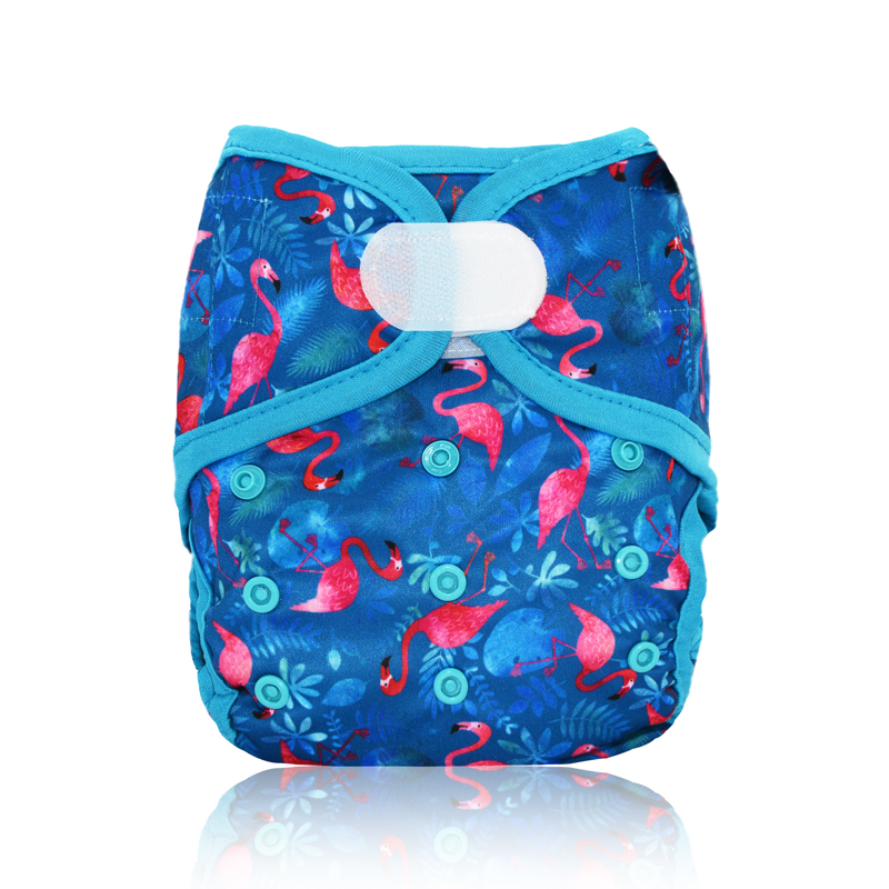 Miababy Onesize Baby Gril Boy Cloth Diaper Cover Fits Baby 3-15kg, Baby Nappies Waterproof And Breathable