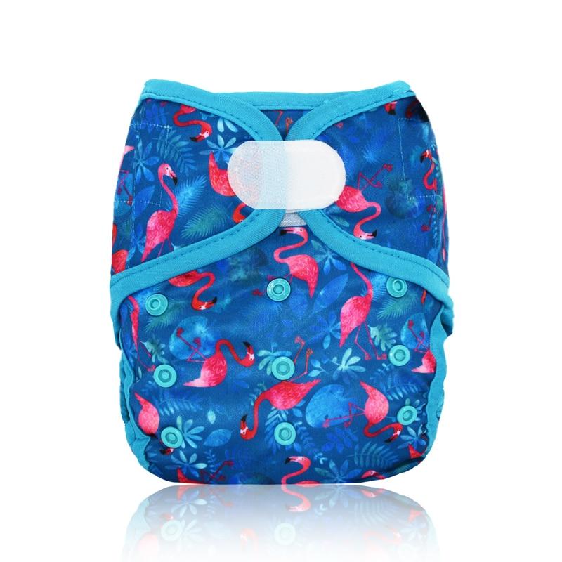 Мягкий тканевый подгузник Miababy для маленьких девочек и мальчиков, подходит для детей от 3 до 15 кг, детские подгузники, водонепроницаемые и ды...