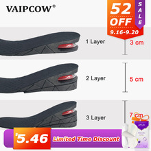 3-7cm Height Increase Insole Cushion Height Lift Adjustable Cut Shoe Heel Insert Taller Support Absorbant Foot Pad