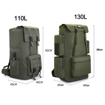 110L 130L Men Hiking Bag Camping Backpack Large Army Outdoor Climbing Trekking Travel Rucksack Tactical