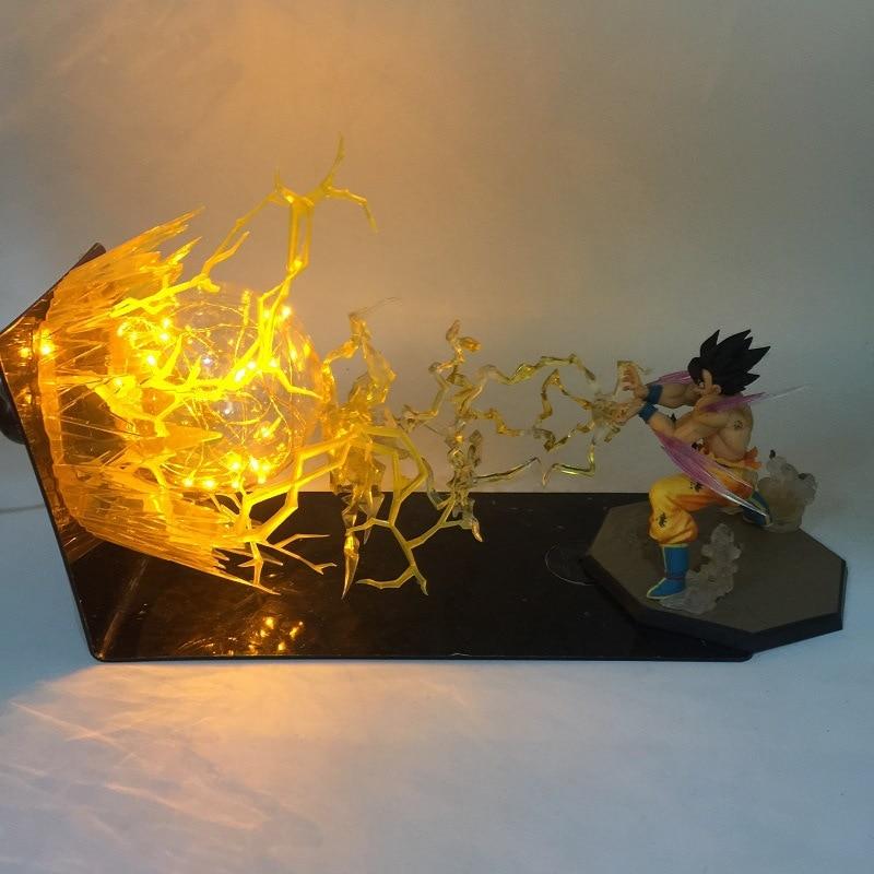 Anime Dragon Ball Z LED Light Son Goku Spirit Bomb Figure Lamp Xmas Gifts
