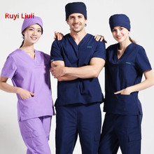 Surgical clothes mens working women doctors professional dress operating room washing separate nurses wear