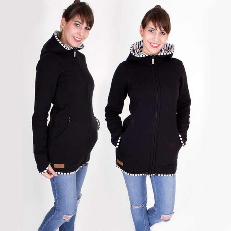 หญิงตั้งครรภ์กระเป๋าถือเด็กแรกเกิด Outwear ผู้ถือเด็ก Materity Carrier เสื้อ Pregnant Multifunction Kangaroo Coat Warm