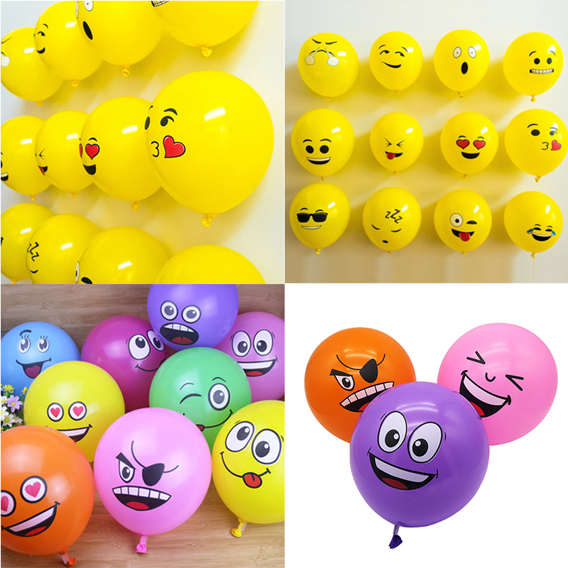 12inch <font><b>Big</b></font> Eyes Smiley Face <font><b>Latex</b></font> <font><b>Balloons</b></font> Inflatable Air helium Ballons wedding Birthday Party Decoration Kids Gifts globos image