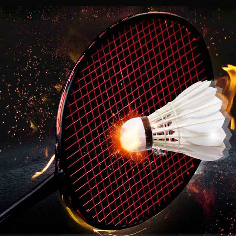 Professional Offensive Badminton Racket 4U Carbon Ultralight G5 Badminton Racquet 24-28 LBS Racket Training With Bag Hand Glue