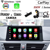 Décodeur de caméra arrière   Boîte Carplay sans fil pour BMW série 1 (F20) 116i/118i 2010 ~ 2019 décodeur de caméra arrière avant, Interface dadaptateur décran dorigine