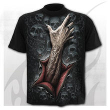 Imagem de banda larga para homem, camiseta 3d rock, topos informales, camiseta de cuello redondo, roda de quadril-