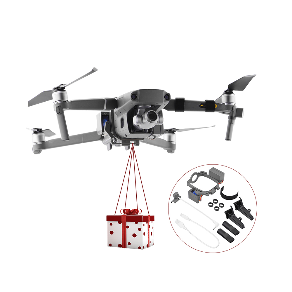 DJI Mavic 2 Pro / 2 Zoom Drone Lightweight Thrower Device Air Drop System Remote Delivery Emergency Rescue Wedding Gift Airdrop