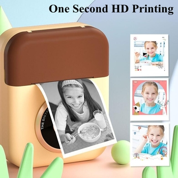 2.4 Inch Instant Print Toy Camera 1080P HD Video Recording Kids Camera Toys Dual Lens Selfie Camera Christmas Birthday Gifts