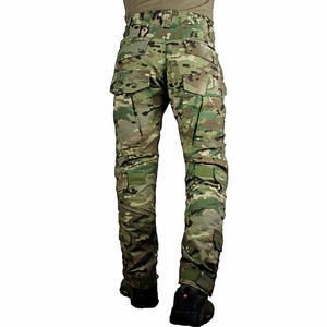 Image 2 - zuoxiangru Mens Multicam Tactical Pants Multi Pockets Military Camo Outdoor Airsoft Combat Hunting Pants with Knee Pads