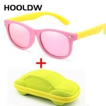 HOOLDW 2020 Novos Óculos Polarizados Crianças Óculos De Sol Crianças Óculos de Sol Óculos De Segurança Silicone Meninos Meninas Bebê UV400 Óculos Com Caixas