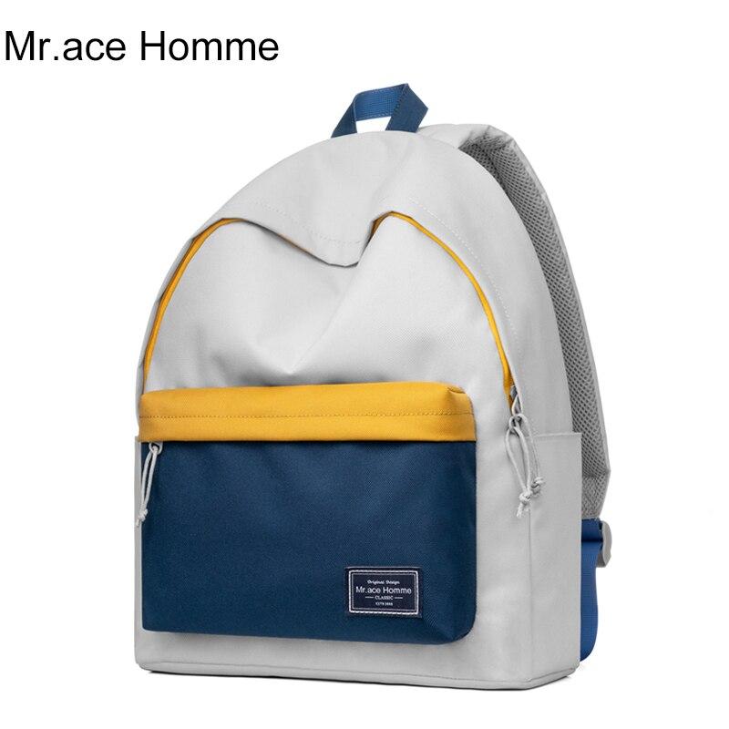 Mr.ace Homme Colorful 14inch Laptop Backpack Women Brand Waterproof School Backpack Men Travel Bag For Girl College Bag Boy