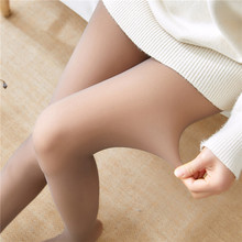 Mallas de mujer cálidas y elásticas de Color sólido, medias largas, suaves, para invierno