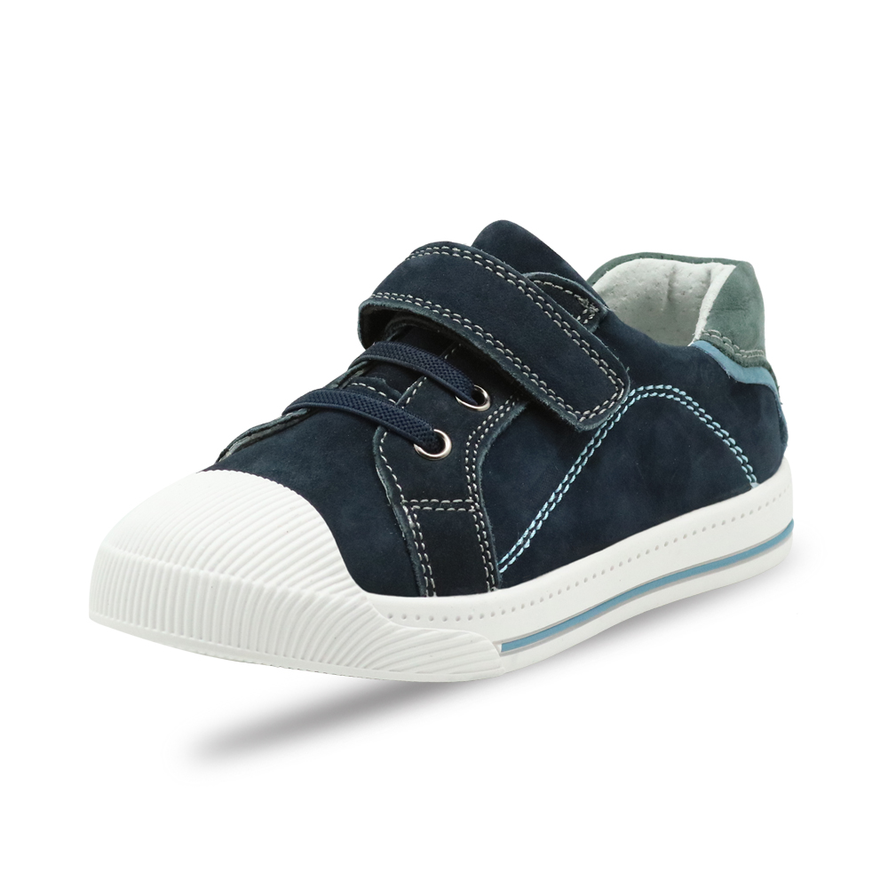 Image 2 - Apakowa Little Kids Leather Low top Hook and Loop Sneakers for Boys and Girls Outdoor Anti Slip Casual Sports Running ShoesSneakers   -