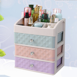 1PC Cosmetics Drawer 3-Tier Saving Space Plastic Makeup Organizer Container Storage Case for Bathroom Bedroom