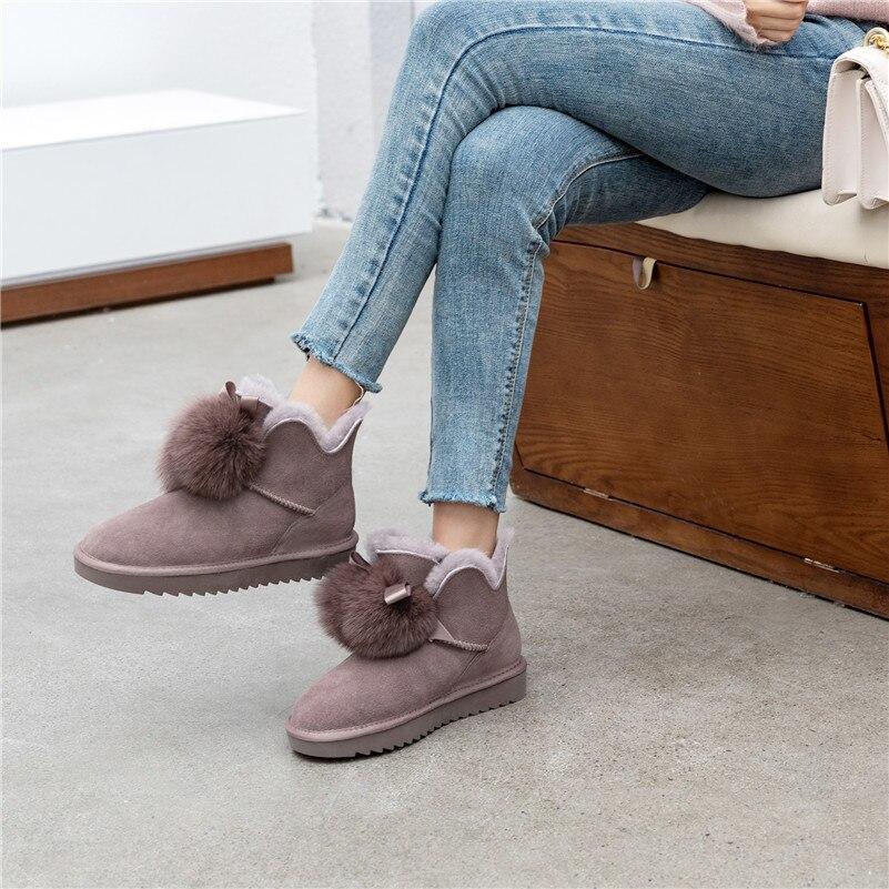Meotina/зимние ботинки из натуральной коровьей замши и шерсти