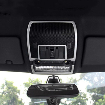 Car Styling Front Reading Lamp Frame Decorative Cover Trim For BMW X5 X6 E71 F70 2008-2013 Interior Accessories image
