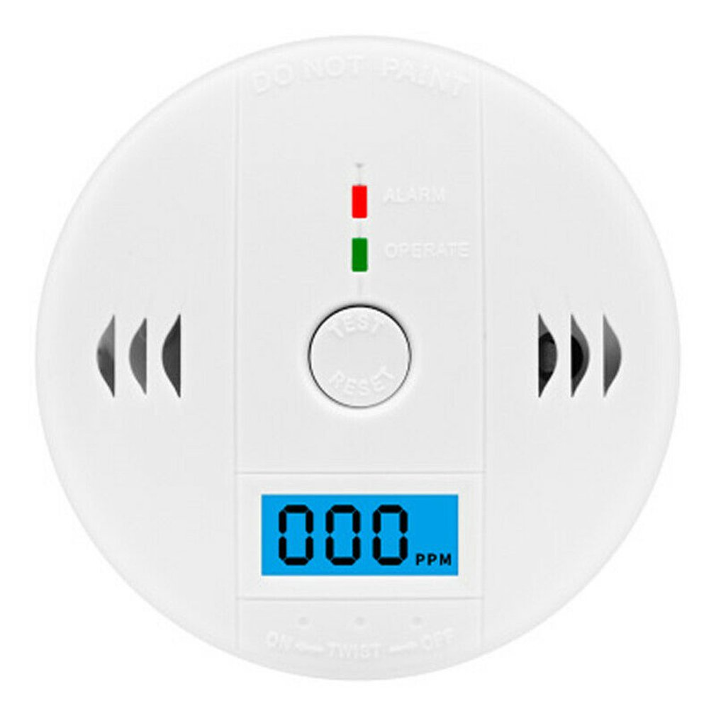 NICe LCD Carbon Monoxide Detector Alarm CO Gas Warning Sensor Alarm Monitor Tester Home Security Carbon Monoxide Smart Sensor