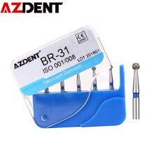 AZDENT 5 teil/schachtel Dental Diamant Bohrer Bohrer Zwei Schicht Diamant für Hohe Geschwindigkeit Handstück Griff Zahnarzt Zähne Bleaching Werkzeuge BR-31