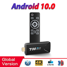 HONGTOP tv stick 4k RK3318 quad-core tv stick android 10 2GB 16GB 2.4G&5G WIFI play store 4k HD T98mini android tv box