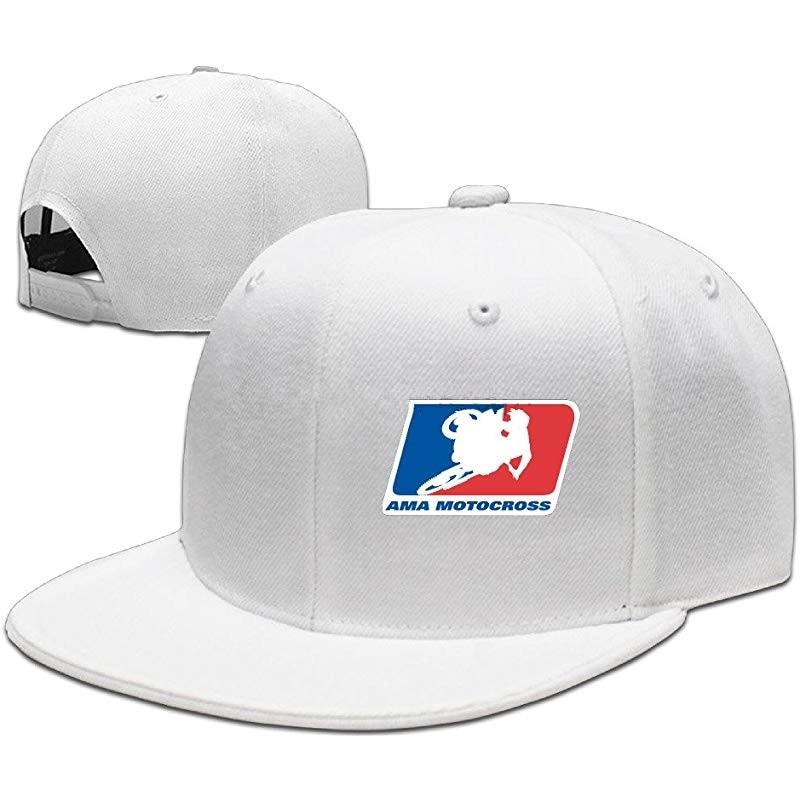 GOww Motocross Championship Logo Adjustable Snapback Flat Baseball Hat _ Caps