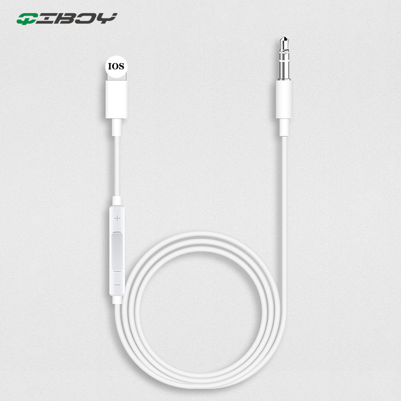 Aux Cable For Iphone Lighting To 3.5mm Aux Jack Cable Male Jack Car Music Player Adapter Audio Transfer Extension Cable Splitter
