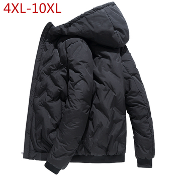 Large Size 4XL-10XL Thick Men Jacket for Winter 2019 Casual Classic High Quality Warm Windproof Outerwear Parka Hoodie Coat Male
