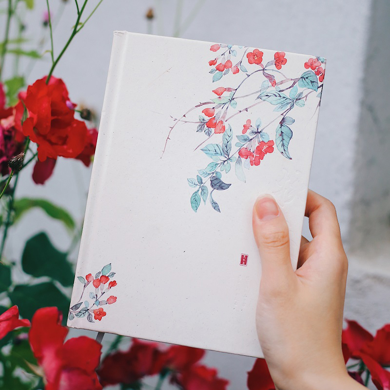 Simple Vegetation Notebook A5 Hardcover Notebook Color Pages Illustrator Diary 1PCS