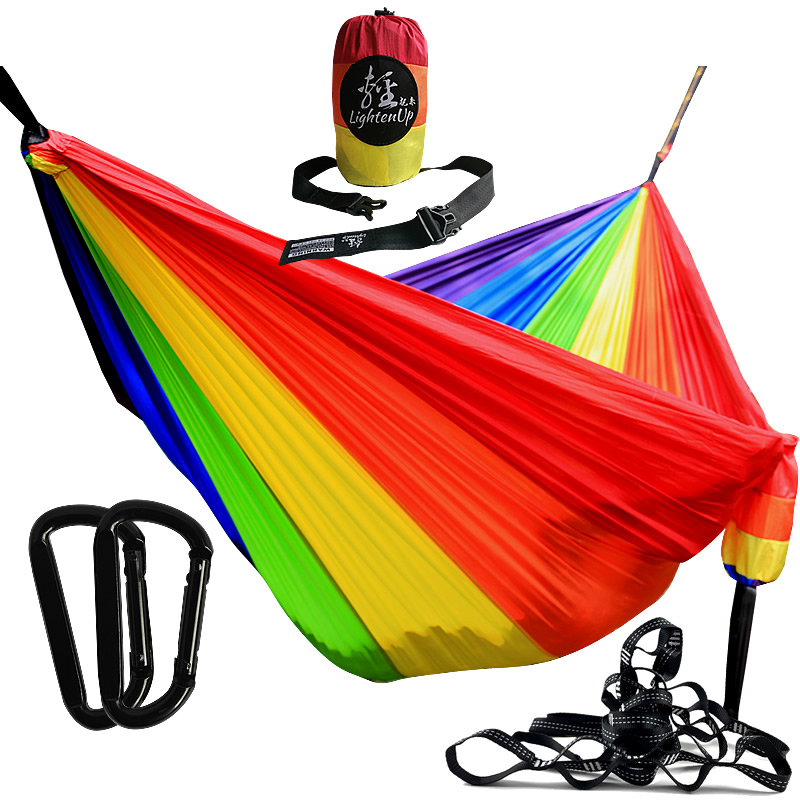 320cm Portable Parachute Hammock Portable Hammock Person Camping Survival