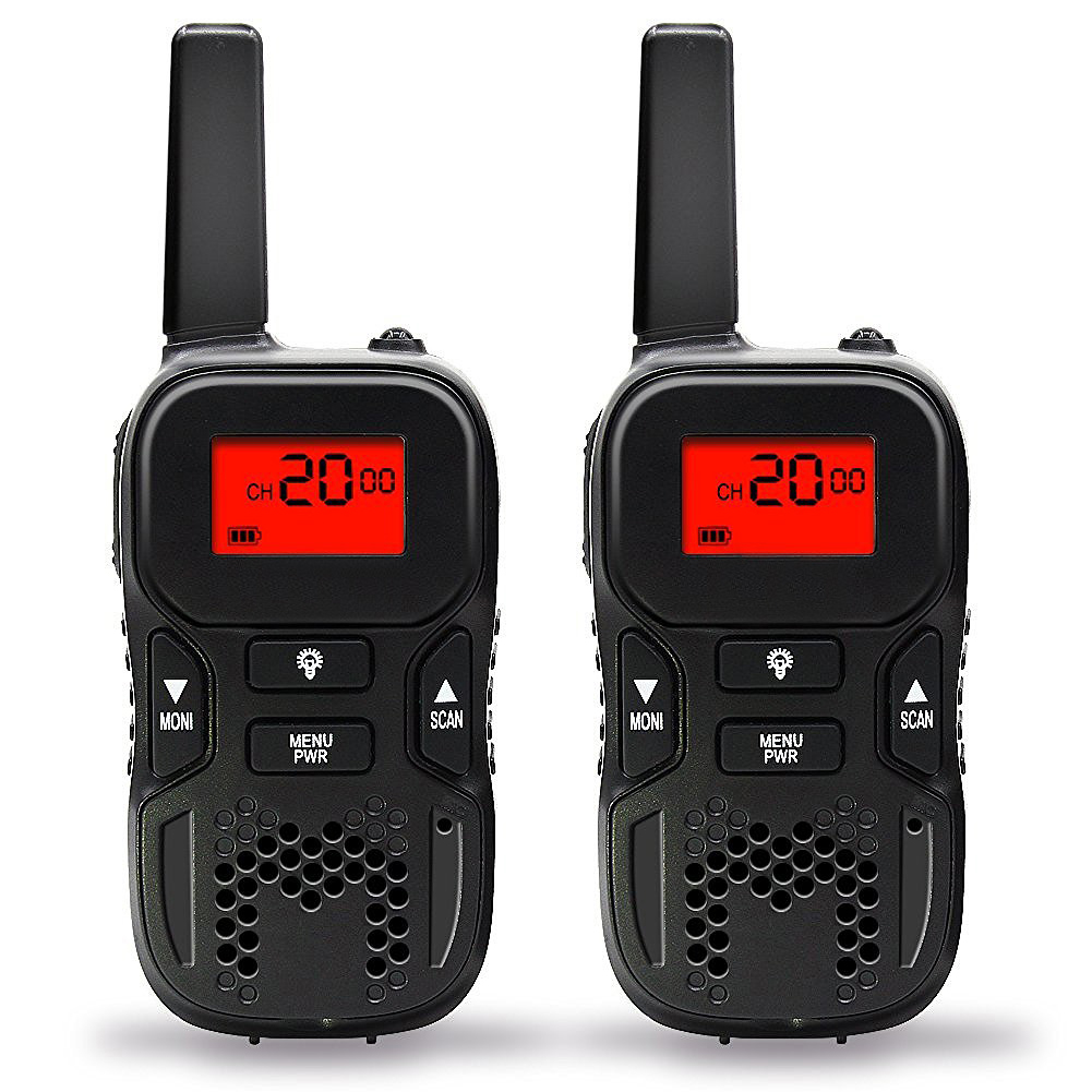 2pcs Handheld LCD Display Durable Kids Gift Electronic Rechargeable Funny Toy Walkie Talkies Interactive With Torch Practical
