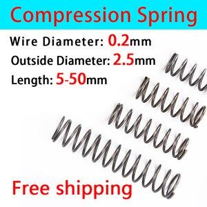 compressed spring return spring compression spring wire diameter 0.2mm outer diameter 2.5mm spring custom