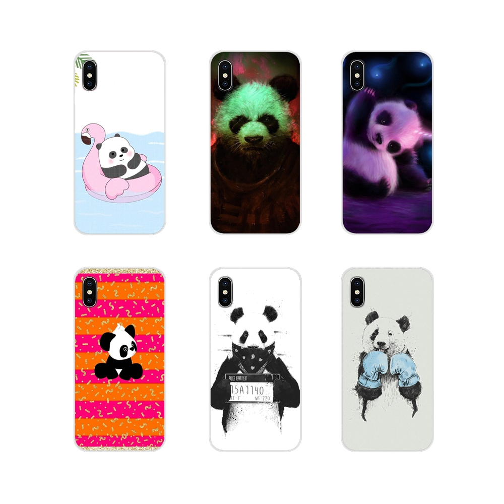 Accessories Phone Shell Covers Fashion Bad Panda Mask For Apple iPhone X XR XS 11Pro MAX 4S 5S 5C SE 6S 7 8 Plus ipod touch 5 6