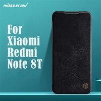 Для Xiaomi Redmi Note 8T флип-чехол Nillkin Qin винтажный кожаный флип-чехол с отделением для карт чехол-кошелек для Redmi Note8T чехлы для телефонов