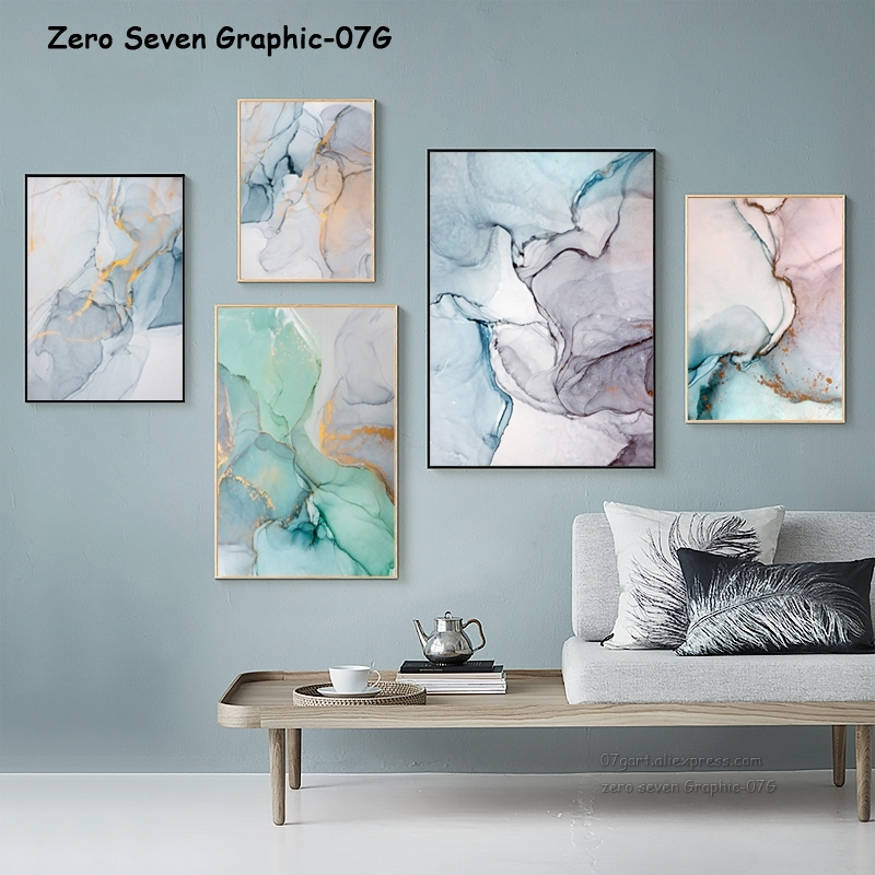 Abstract Watercolour Colourful Flamingo Wall Art Canvas Print Picture A2 A1 A0