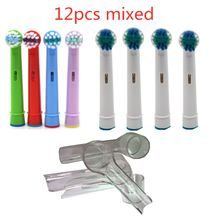 Oral-B-Refil de cabeçote de escova para escova de dentes elétrica, Fit Advance Power/Pro Saúde/Triumph/3D Excel/Vitality, limpeza precisa, 8 unidades