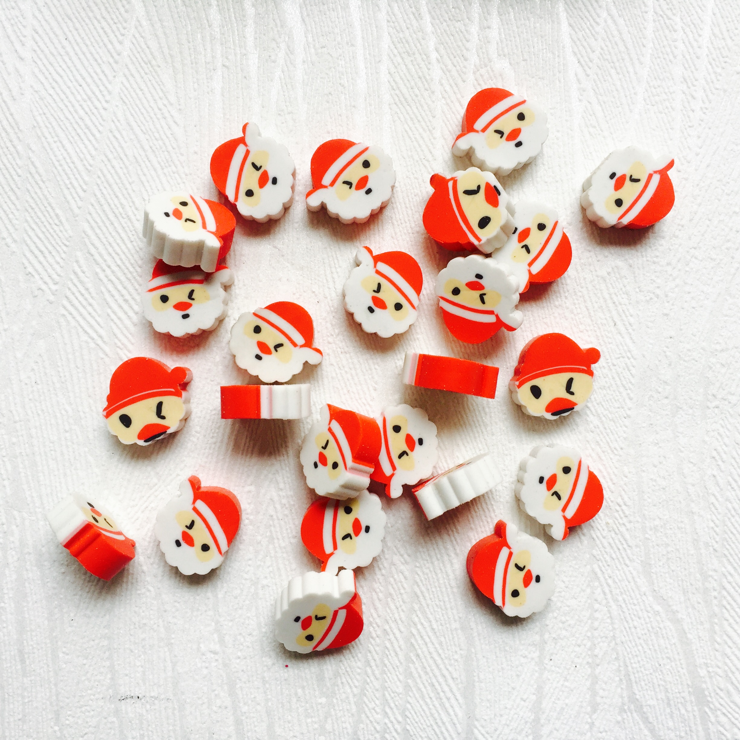Kawaii Kids Erasers 100pcs Santa Claus Erasers Cute Pencil Eraser Student Stationery Office & School Supplies Prizes For Kids