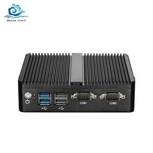 ファンレスミニpcのceleron N4100 J4105 J1900 J1800デュアルlan 2 * com celeron N2830 hdmi wifiのwindows 10ネットトップオフィスコンピュータminipcの