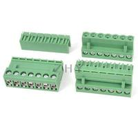 3 Pcs AC 300V 10A 7P Pinos PCB Screw Terminal Block Conector Passo de 5.08mm Verde|Conectores|Renovação da Casa -