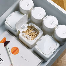 Simple pop-up window organizer box small object storage desk drawer clutter swabs stacked