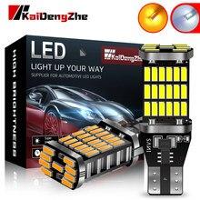 2 шт. автомобильный сигнальный светильник T15 920 921 W16W светодиодный лампы 4014 45 светодиодный светильник с Canbus, высокое яркий 12V обратная задняя и...