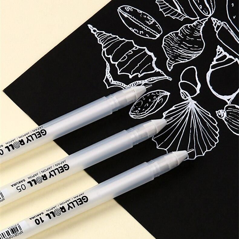 Sakura Gelly Roll Gel Ink Pen Set White/Basic/3D Pastel/3D Glossy/Metallic Shiny/Stardust Glitter/Moonlight&White/66-Colors Set