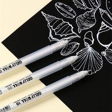 Conjunto de caneta de tinta de gel de rolo sakura gelly branco/básico/3d pastel/3d brilhante/metálico brilhante/brilho de estrelas/luar & branco/66-conjunto de cores