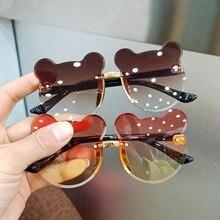 Çocuk güneş gözlüğü moda bebek güneş gözlüğü gözlük moda kız erkek sevimli karikatür ayı güneş gözlüğü anti parlama anti radyasyon
