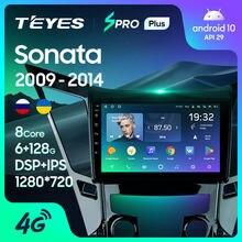 TEYES SPRO artı Hyundai Sonata 6 YF 2009 - 2014 araba radyo multimedya Video oynatıcı navigasyon Android 10 hiçbir 2din 2 din DVD