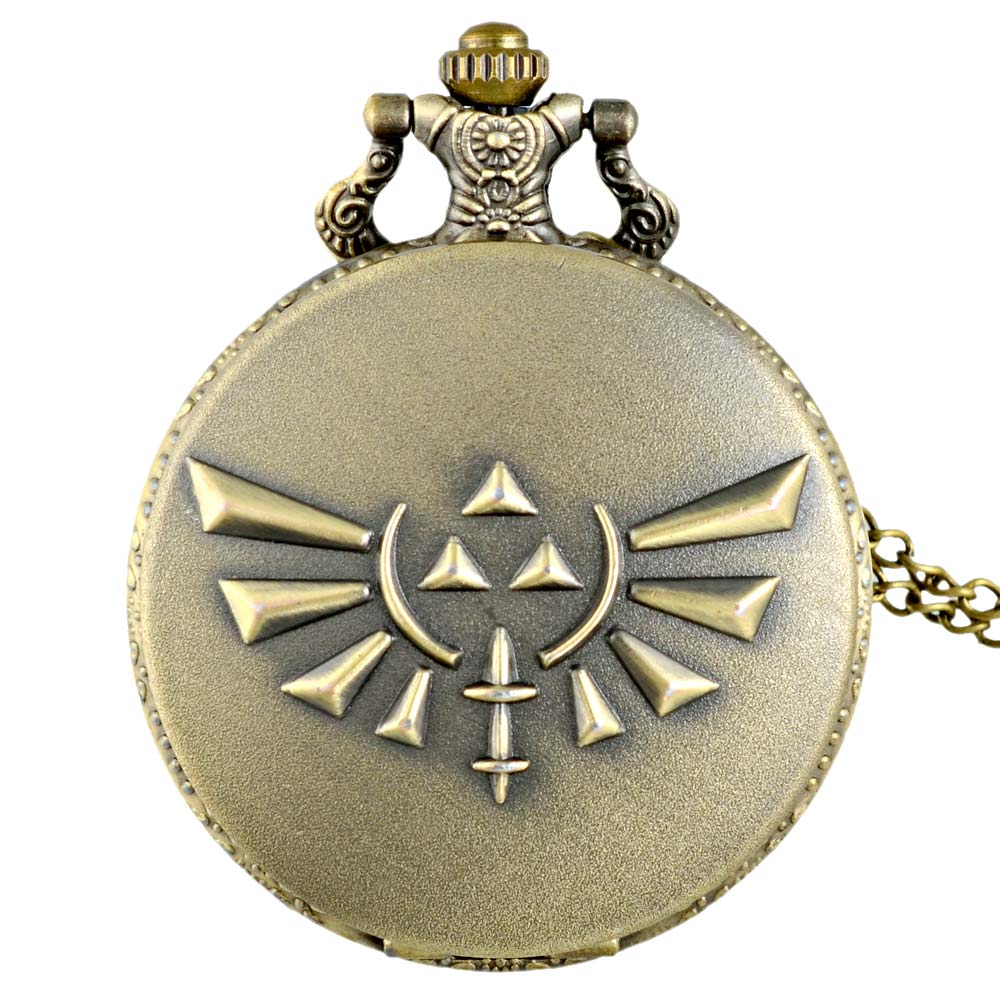IBEINA Vintage Bronze The Legend Of Zelda Quartz Pocket Watch Retro Men Women Zelda Pendant Necklace Jewelry Gifts
